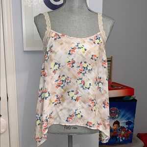 Soprano Flower and Lace Tank
